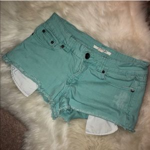 Low Rise Green Shorts